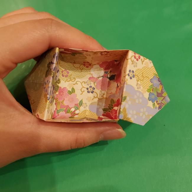 お月見団子の台の折り紙★三宝(三方)の折り方作り方(32)