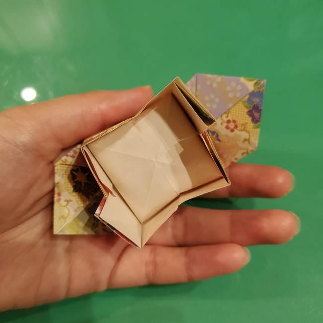 お月見団子の台の折り紙★三宝(三方)の折り方作り方(33)