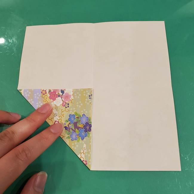 お月見団子の台の折り紙★三宝(三方)の折り方作り方(6)