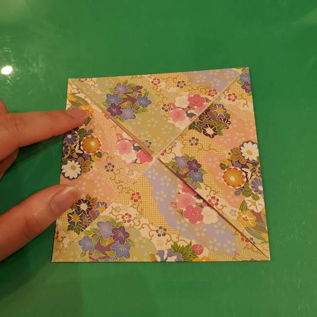 お月見団子の台の折り紙★三宝(三方)の折り方作り方(7)