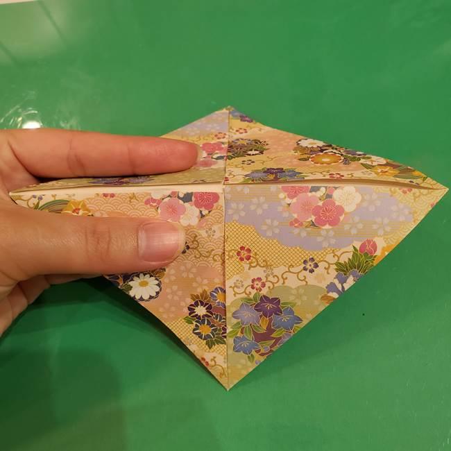 お月見団子の台の折り紙★三宝(三方)の折り方作り方(8)