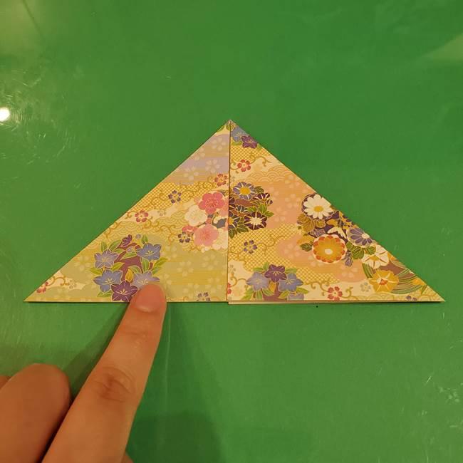 お月見団子の台の折り紙★三宝(三方)の折り方作り方(9)