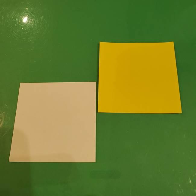 きのこの折り紙を簡単に子供と作ったよ♪用意するもの1