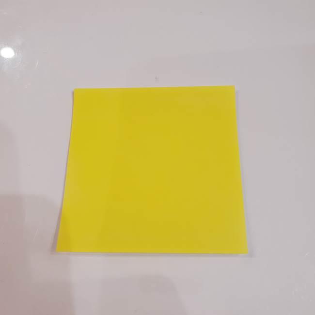 きのこの折り紙 簡単に子供も作れた折り方作り方①傘(1)
