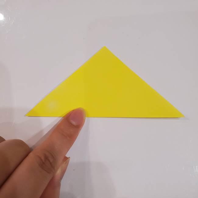 きのこの折り紙 簡単に子供も作れた折り方作り方①傘(2)