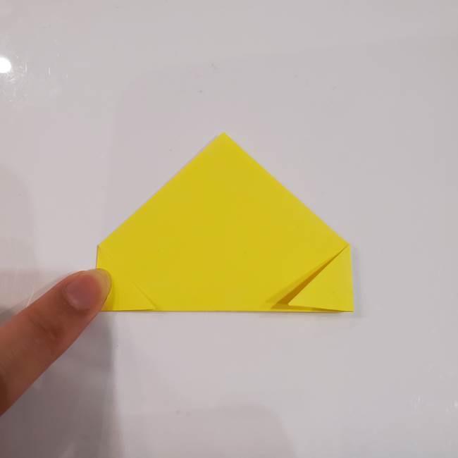 きのこの折り紙 簡単に子供も作れた折り方作り方①傘(3)