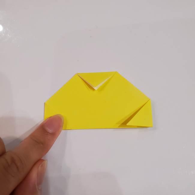 きのこの折り紙 簡単に子供も作れた折り方作り方①傘(4)