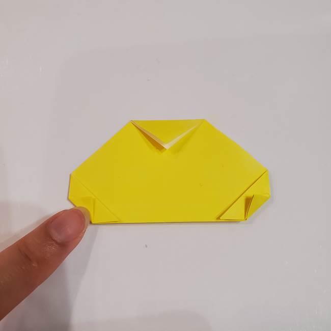 きのこの折り紙 簡単に子供も作れた折り方作り方①傘(5)
