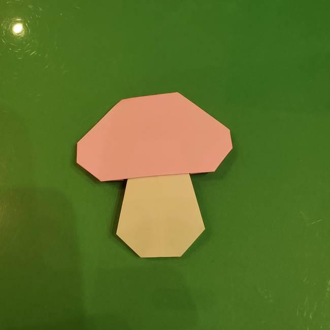 きのこの折り紙 簡単に子供も作れた折り方作り方②軸(11)