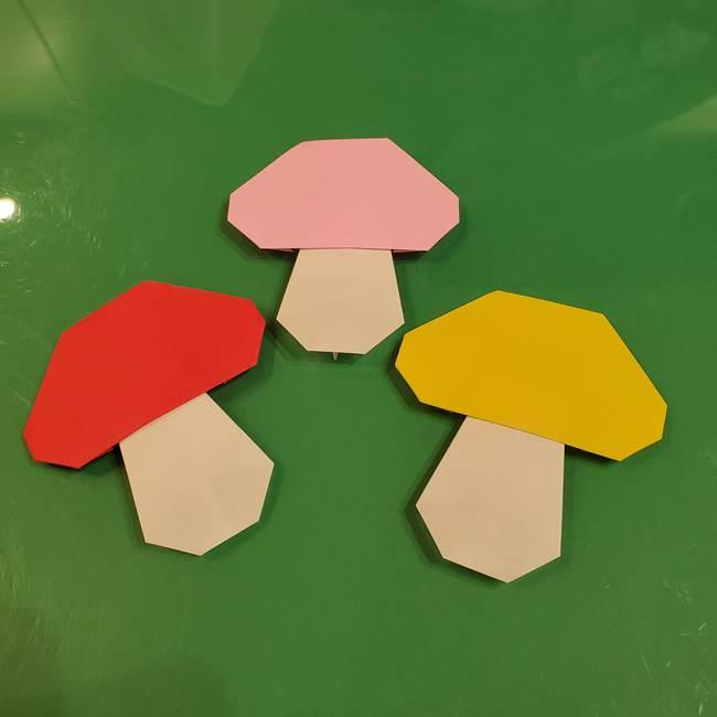 きのこの折り紙 簡単に子供も作れた折り方作り方②軸(12)