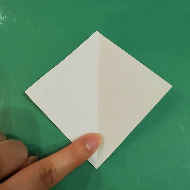 きのこの折り紙 簡単に子供も作れた折り方作り方②軸(3)