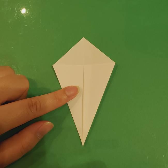 きのこの折り紙 簡単に子供も作れた折り方作り方②軸(4)