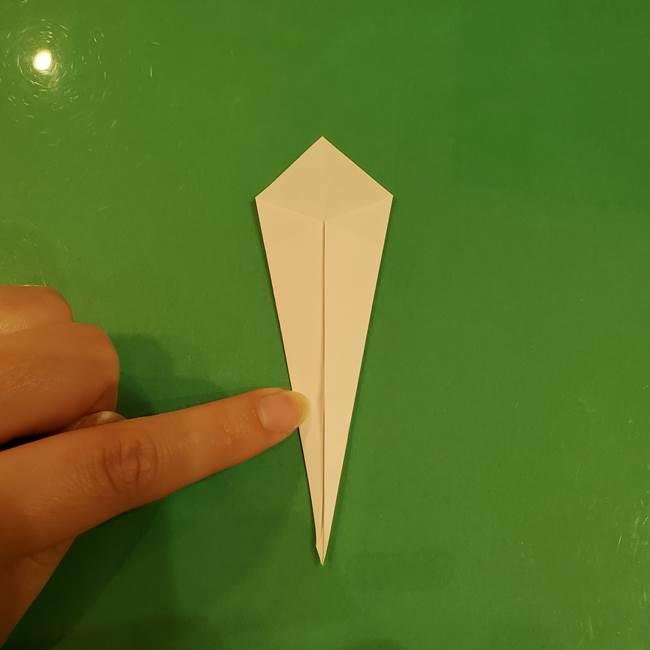 きのこの折り紙 簡単に子供も作れた折り方作り方②軸(5)