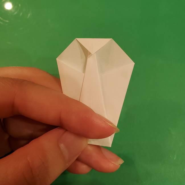 きのこの折り紙 簡単に子供も作れた折り方作り方②軸(8)