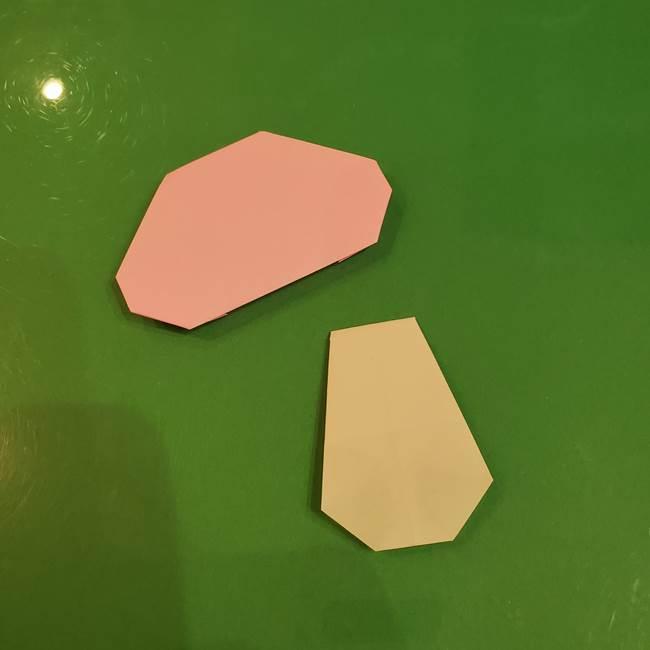 きのこの折り紙 簡単に子供も作れた折り方作り方②軸(9)