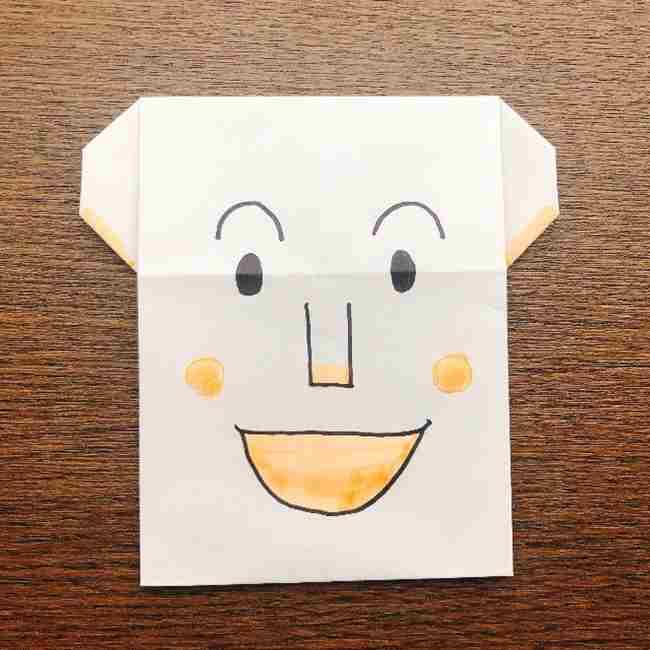 しょくぱんまん 折り紙の作り方折り方☆簡単に作れるアンパンマンキャラ