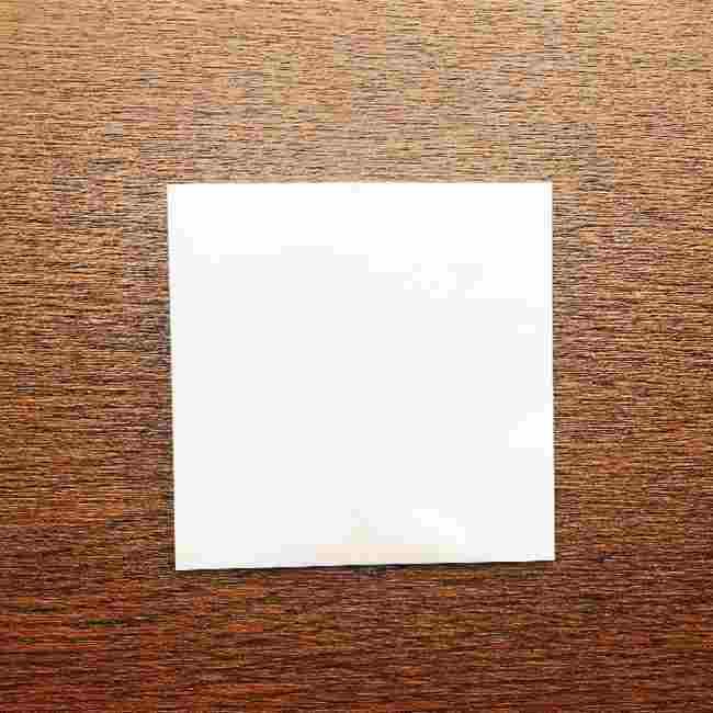 しょくぱんまん 折り紙の作り方折り方 (4)