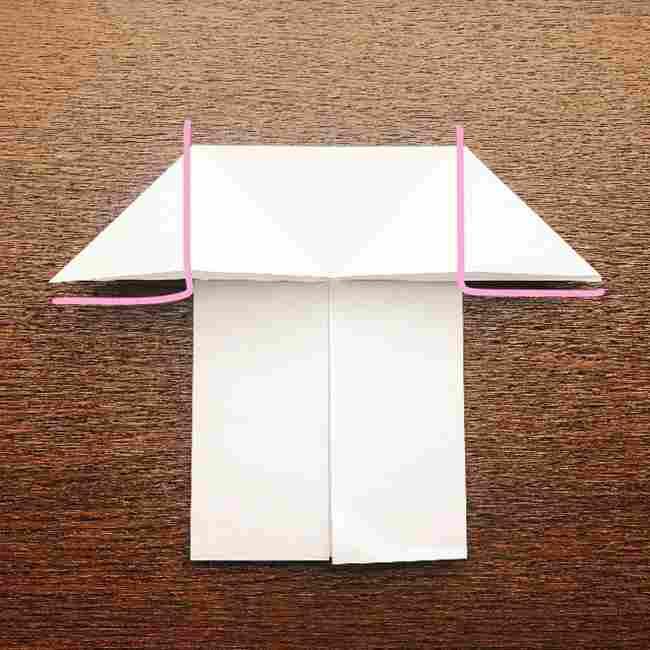 しょくぱんまん 折り紙の作り方折り方 (9)
