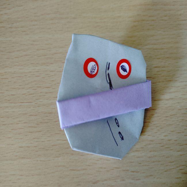 だだんだんの折り紙は簡単に作れる!4歳児と手作り♪
