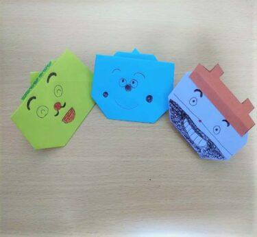 どんぶりまんトリオの折り紙☆簡単な折り方作り方(天丼マン・釜めしドン・かつ丼マン)