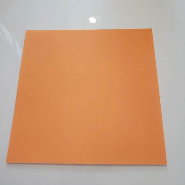 ほおずきの折り紙(平面) 簡単な折り方作り方①実(1)