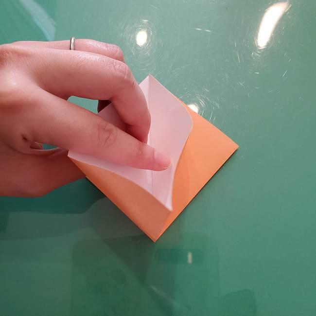 ほおずきの折り紙(平面) 簡単な折り方作り方①実(11)
