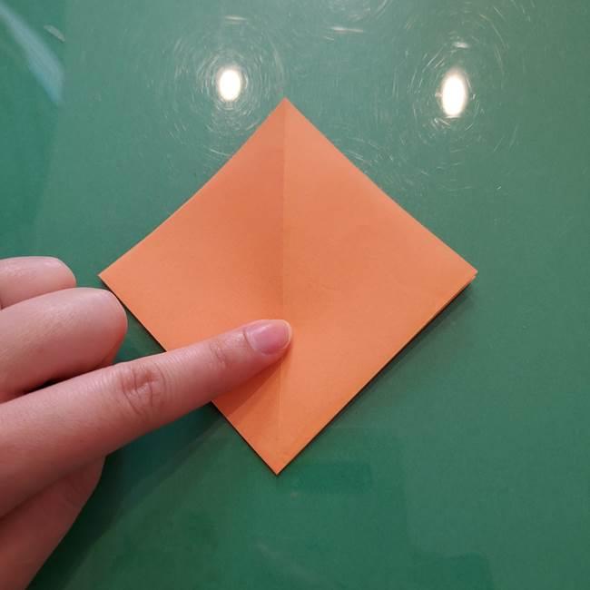 ほおずきの折り紙(平面) 簡単な折り方作り方①実(12)