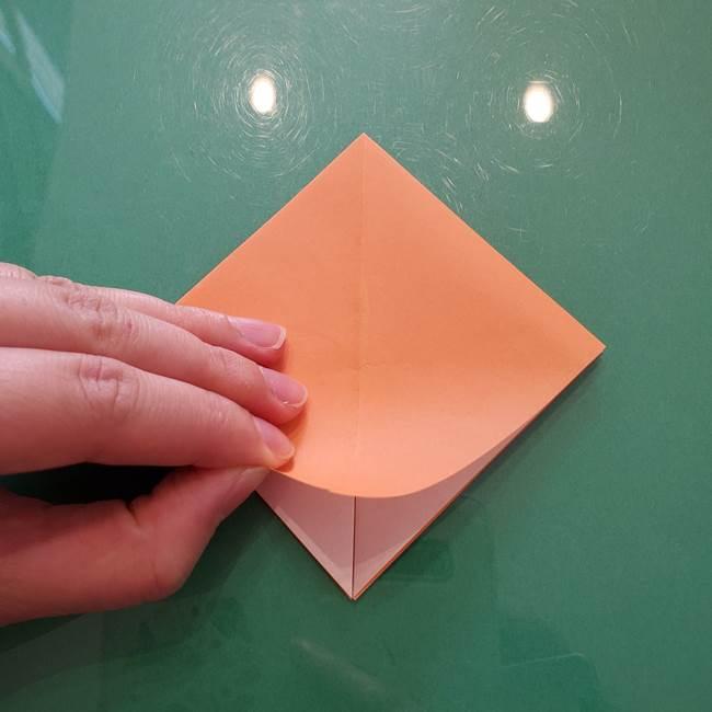 ほおずきの折り紙(平面) 簡単な折り方作り方①実(13)