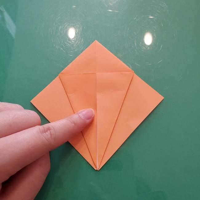 ほおずきの折り紙(平面) 簡単な折り方作り方①実(14)