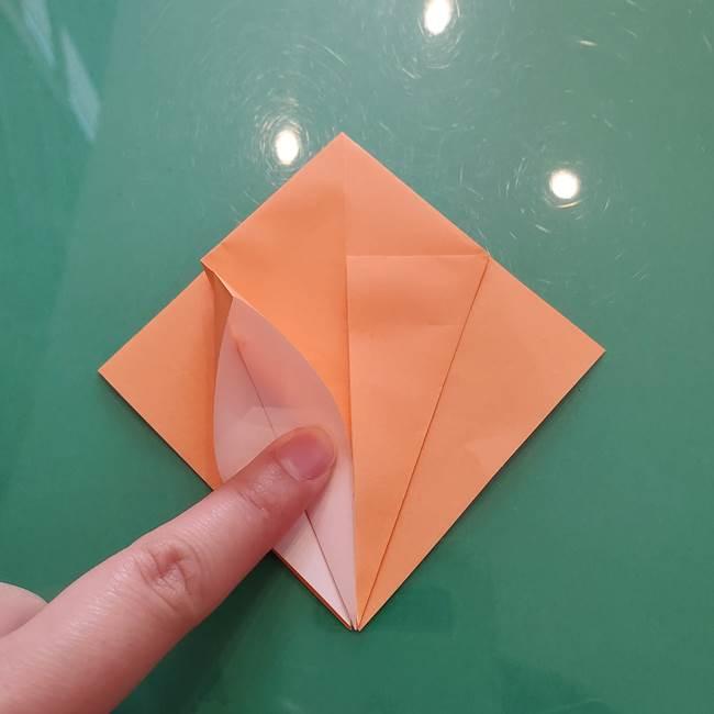 ほおずきの折り紙(平面) 簡単な折り方作り方①実(15)