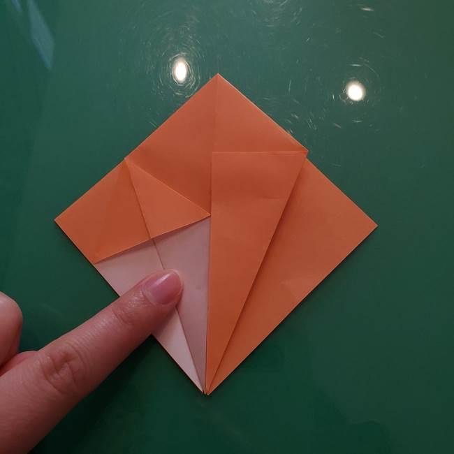 ほおずきの折り紙(平面) 簡単な折り方作り方①実(16)