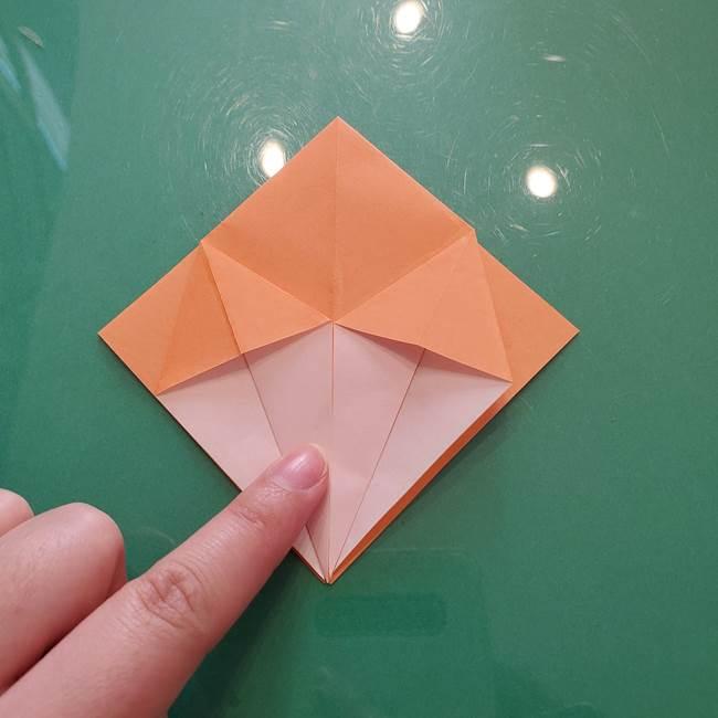 ほおずきの折り紙(平面) 簡単な折り方作り方①実(17)