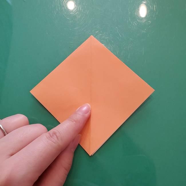 ほおずきの折り紙(平面) 簡単な折り方作り方①実(18)