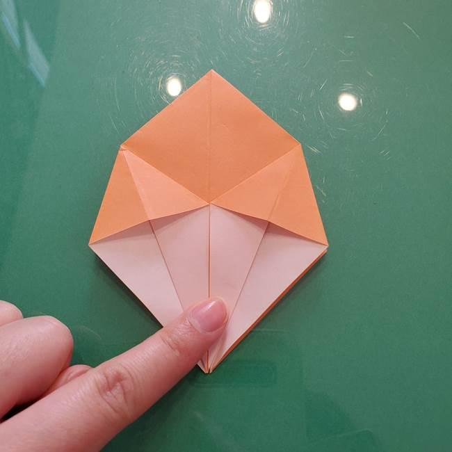 ほおずきの折り紙(平面) 簡単な折り方作り方①実(19)