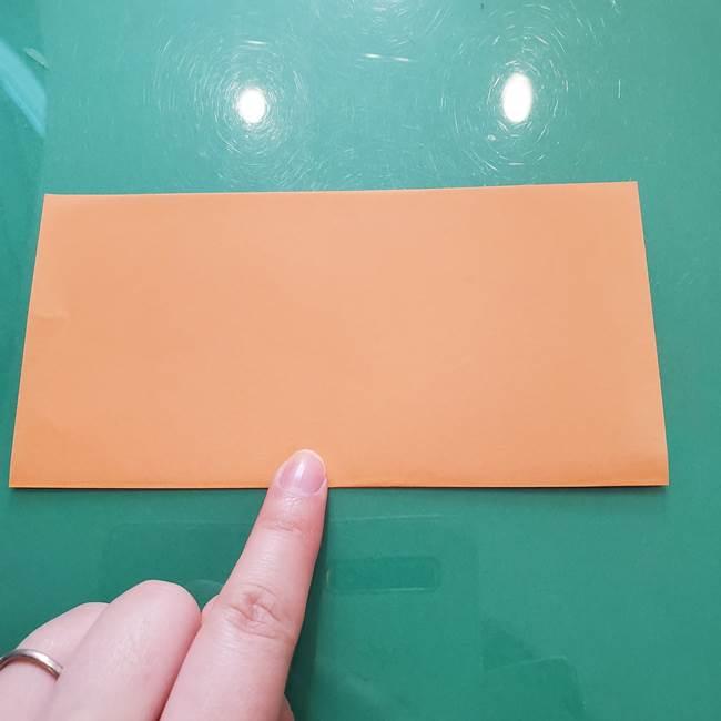 ほおずきの折り紙(平面) 簡単な折り方作り方①実(2)