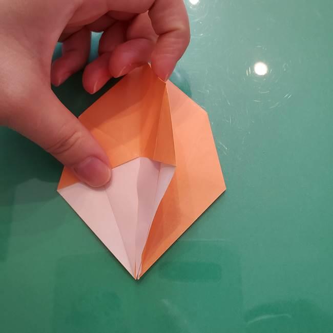ほおずきの折り紙(平面) 簡単な折り方作り方①実(20)
