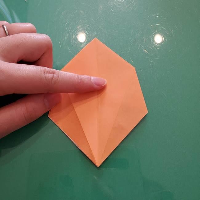 ほおずきの折り紙(平面) 簡単な折り方作り方①実(21)