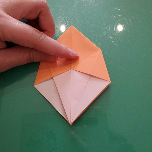 ほおずきの折り紙(平面) 簡単な折り方作り方①実(22)