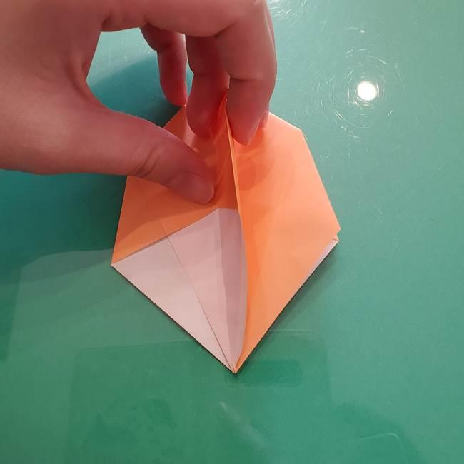 ほおずきの折り紙(平面) 簡単な折り方作り方①実(23)
