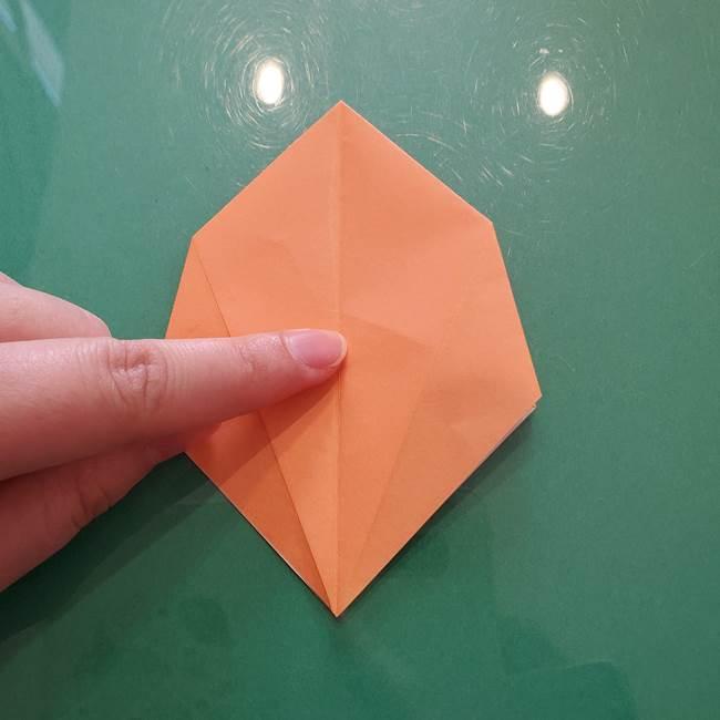 ほおずきの折り紙(平面) 簡単な折り方作り方①実(24)