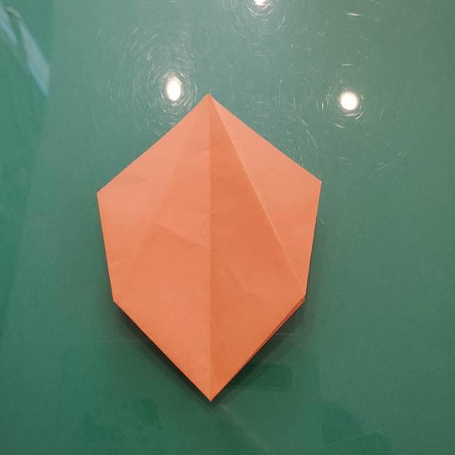 ほおずきの折り紙(平面) 簡単な折り方作り方①実(25)