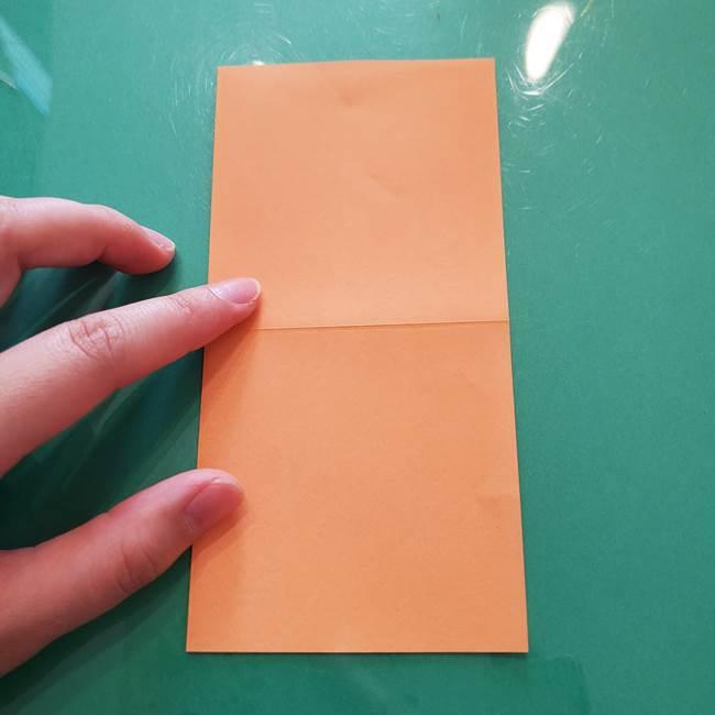 ほおずきの折り紙(平面) 簡単な折り方作り方①実(4)