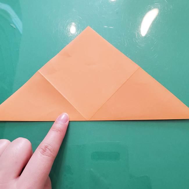 ほおずきの折り紙(平面) 簡単な折り方作り方①実(6)