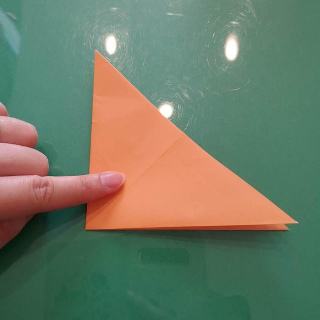 ほおずきの折り紙(平面) 簡単な折り方作り方①実(7)