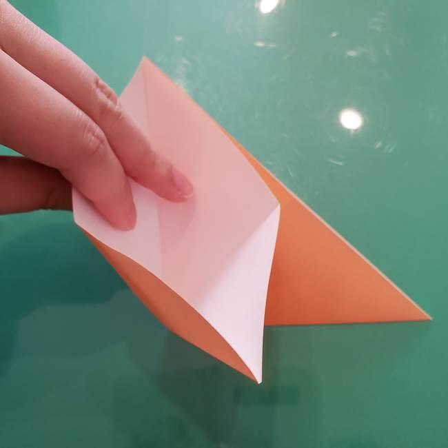 ほおずきの折り紙(平面) 簡単な折り方作り方①実(8)