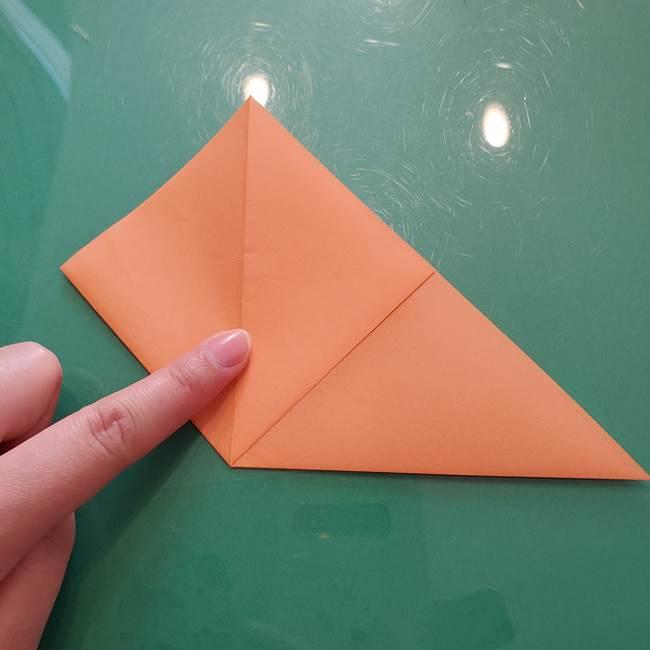 ほおずきの折り紙(平面) 簡単な折り方作り方①実(9)