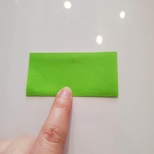 ほおずきの折り紙(平面) 簡単な折り方作り方②茎(2)