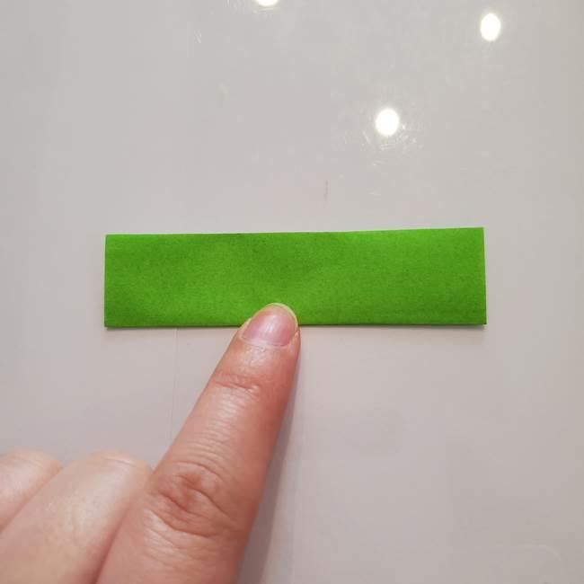 ほおずきの折り紙(平面) 簡単な折り方作り方②茎(3)