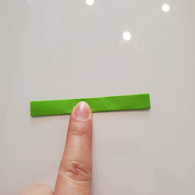 ほおずきの折り紙(平面) 簡単な折り方作り方②茎(4)