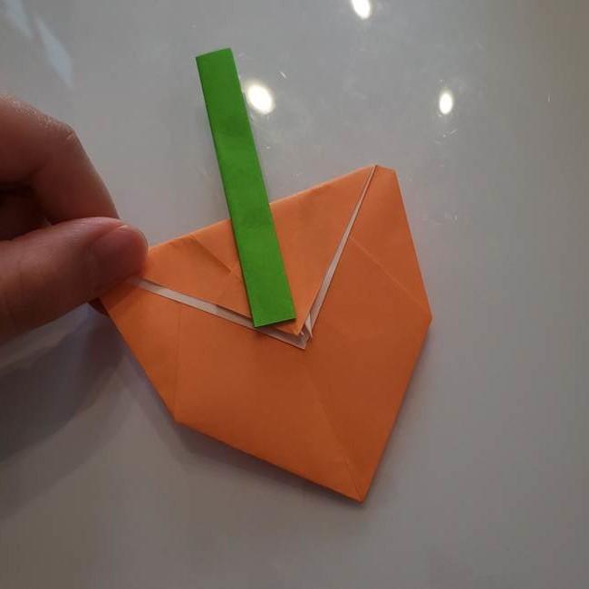ほおずきの折り紙(平面) 簡単な折り方作り方②茎(7)